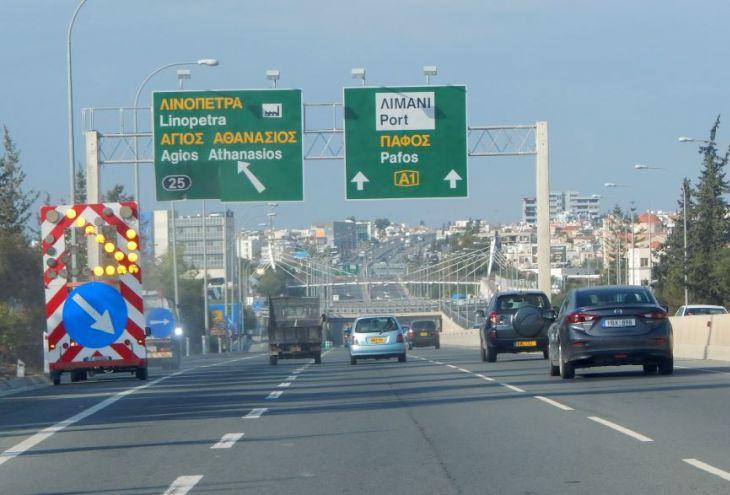 На шоссе Никосия-Лимассол создадут 20 «окон» для выезда на встречную полосу