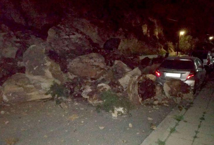 Камнепад в Лимассоле. Чудом никто не пострадал