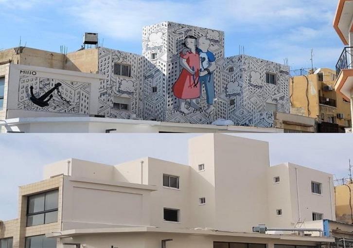 Вестник Кипра - В Пафосе закрасили рисунки современных художников