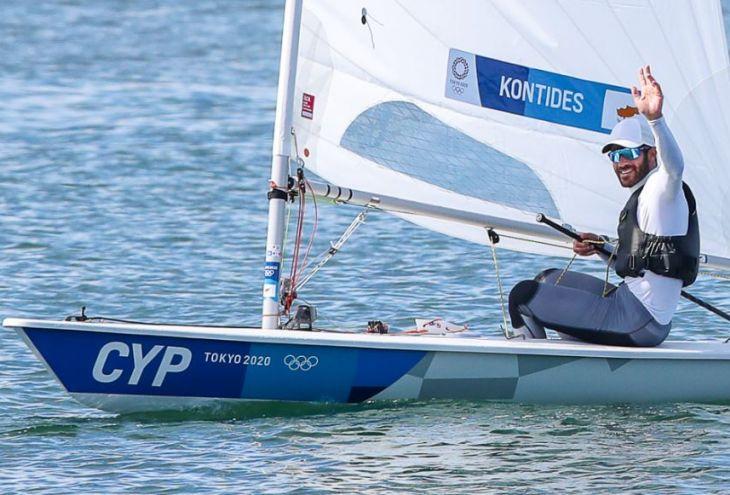 Кипрский яхтсмен Павлос Контидис вышел на первое место после шести гонок в Токио
