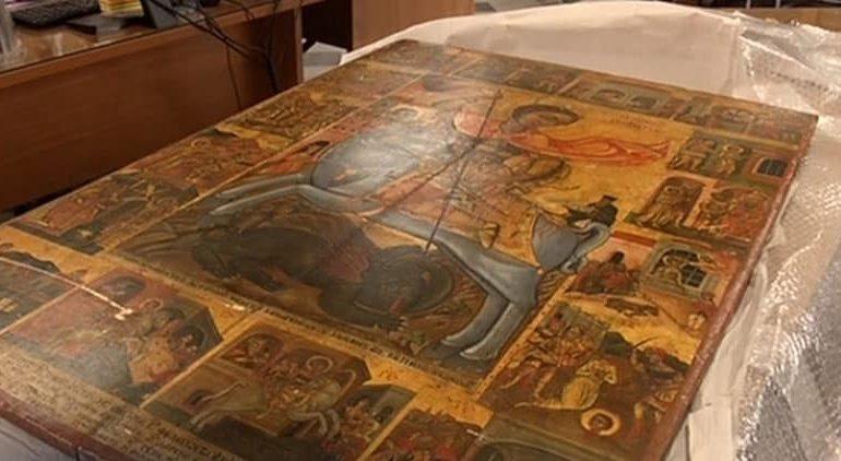Украденная икона Святого Георгия вернулась на Кипр