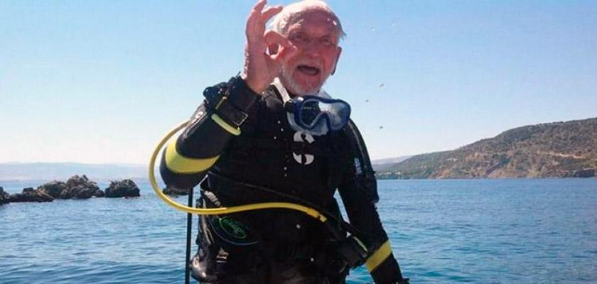 Британский дайвер-пенсионер, погрузившийся на Кипре, претендует на рекорд Гиннеса | CypLIVE