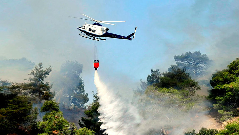 Кипр арендовал два пожарных вертолета | CypLIVE