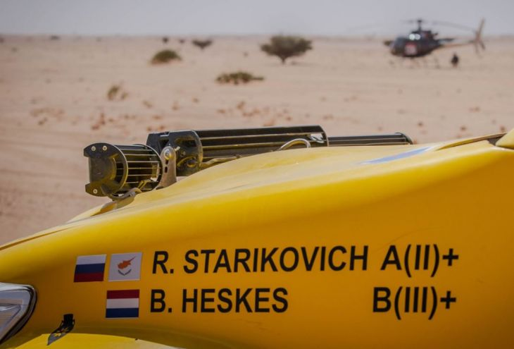 Экипаж Романа Стариковича жестко приземлился на гонке «Дакар»