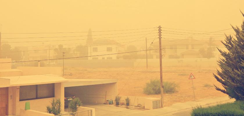 Кипр накрыло пылью | CypLIVE