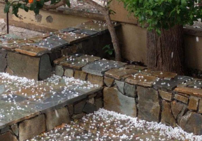 Дождь и град на Кипре 20 октября
