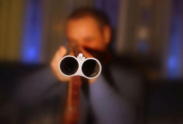 Хозяин дома выстрелил в вора из охотничьего ружья. Издалека