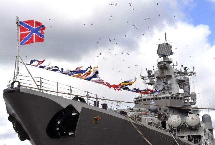 В Лимассол пришел ракетный крейсер «Маршал Устинов»