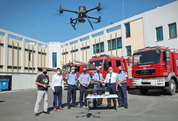 Пожарная служба Кипра усилена двумя ультрасовременными дронами
