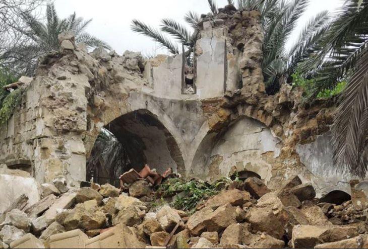 Из-за ливней обрушились колокольня и часть стены церкви Айос Яковос